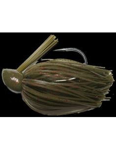 Rattle Bass Jig 3/8oz (10g) color Green Pumpkin Red