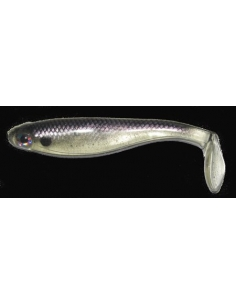 "Paddle Tail 4"" (100mm) color Threadfin Shad"