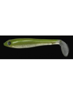 "Paddle Tail 5"" (125mm) color Smoke Chartreuse"