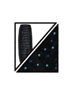 "Big Ika 5"" color 021, negro/purpurina azul"