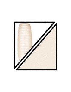 "Super Grub 5"" color 036 blanco crema"