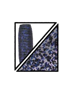 "Super Grub 5"" color 157 humo/purpurina púrpura y negra"