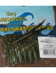 """Shrimp 3"""" color 296 Rtbeer/Blk Green Flk"""