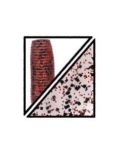 "Senko 5"" color 197 translúcido/purpurina roja y negra"