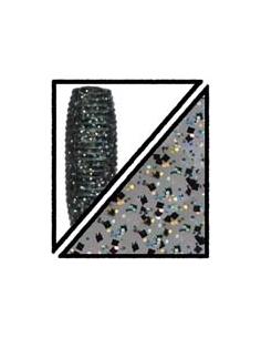 "Senko 5"" color 238 humo/purpurina holográfica y negra"