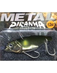 Metal Piranha 1/2oz color 03 Plating Green Back Ayu