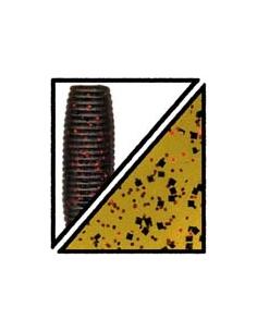 "Lizard 7"" color 208 watermelon/purpurina roja y negra"