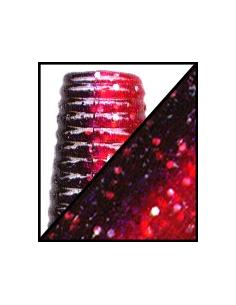"Cut tail 5"" color 922 negro rojo/purpurina plata laminado"
