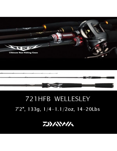"Daiwa Steez Wellesley Heavy 7'2"" 1/4-1 1/2oz"