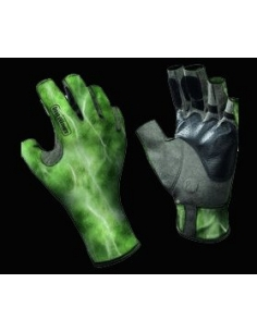 ANGLER GLOVES BUFF® BS WATER CAMO GREEN L/XL-Standard