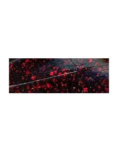 Super Chunk color negro/purpurina roja