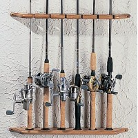 BPS Solid Oak Rod Rack